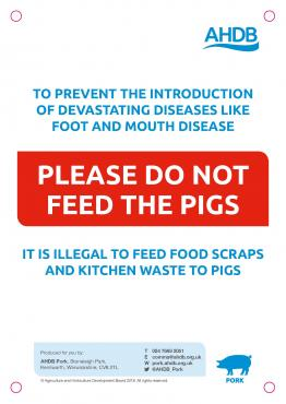 Dont feed pigs sign