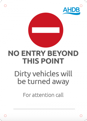Muck Free truck farm gate sign